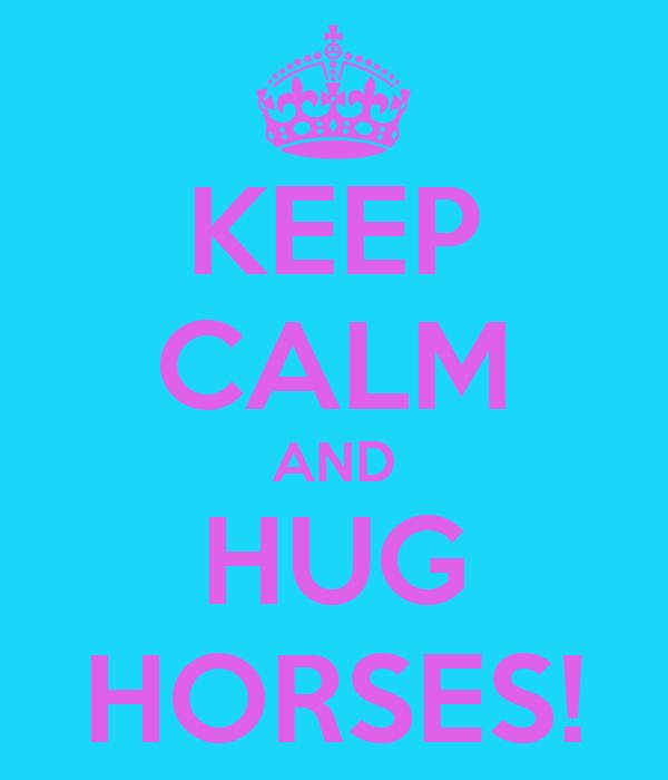KEEP CALM AND HUG HORSES!