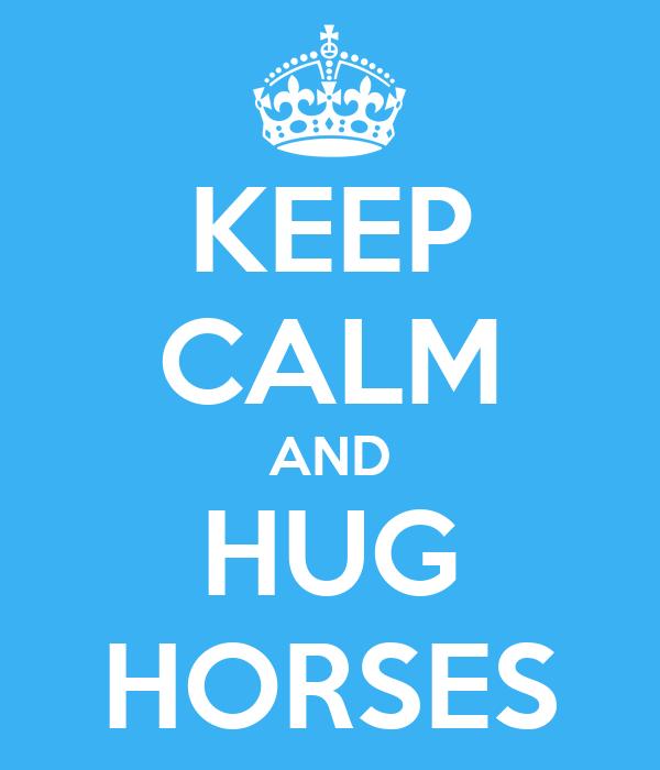 KEEP CALM AND HUG HORSES