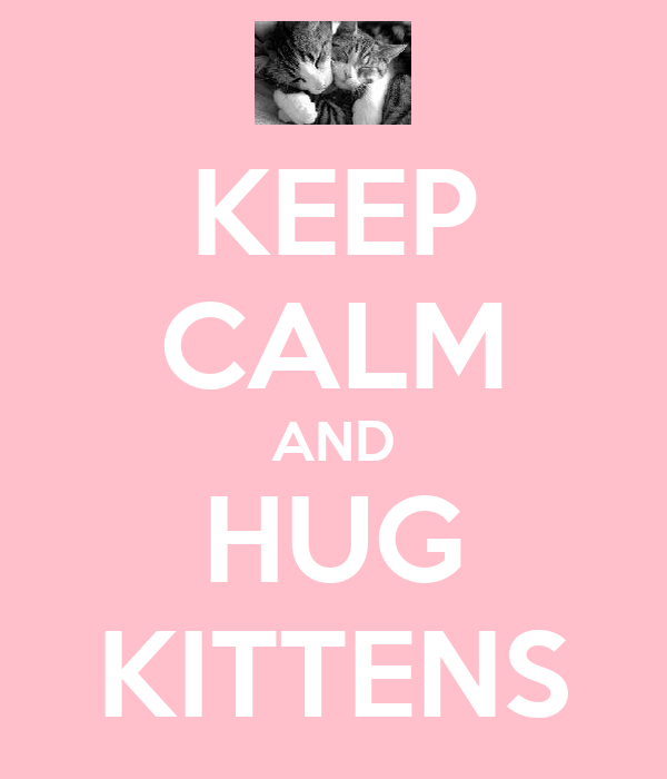 KEEP CALM AND HUG KITTENS