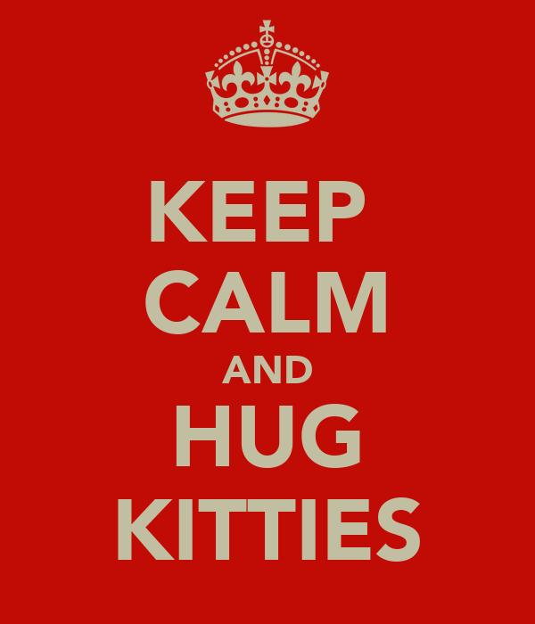 KEEP  CALM AND HUG KITTIES