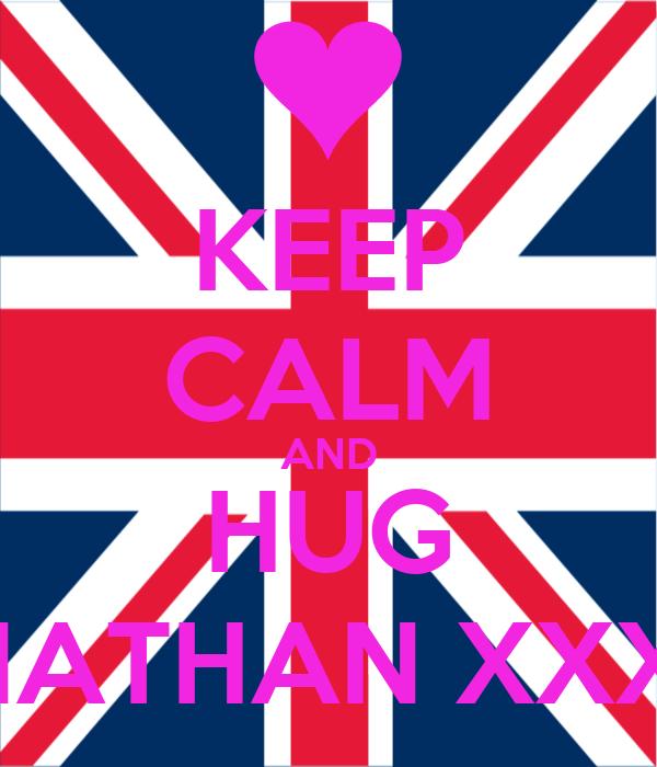 KEEP CALM AND HUG NATHAN XXX