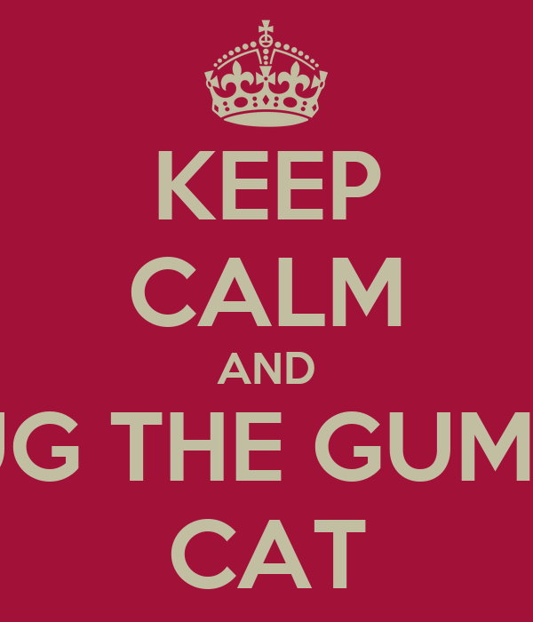 KEEP CALM AND HUG THE GUMPY CAT