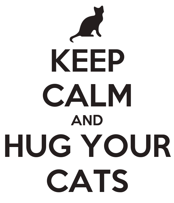 KEEP CALM AND HUG YOUR CATS