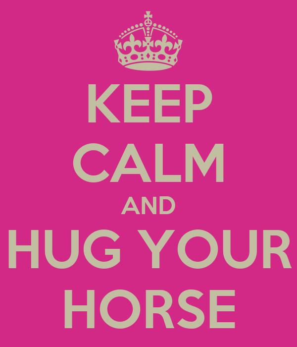 KEEP CALM AND HUG YOUR HORSE