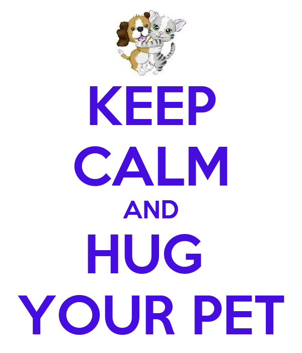 KEEP CALM AND HUG  YOUR PET
