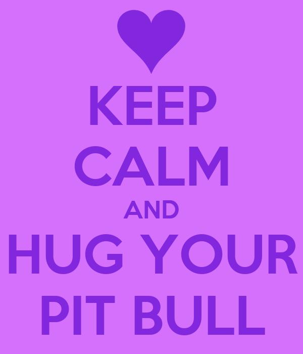 KEEP CALM AND HUG YOUR PIT BULL
