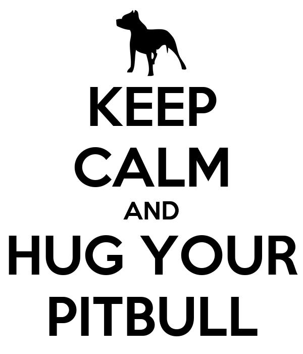 KEEP CALM AND HUG YOUR PITBULL