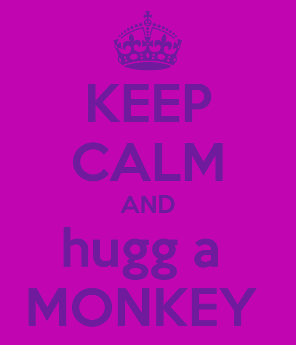KEEP CALM AND hugg a  MONKEY
