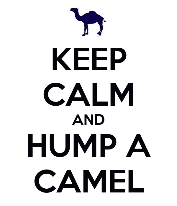 KEEP CALM AND HUMP A CAMEL