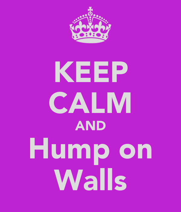 KEEP CALM AND Hump on Walls
