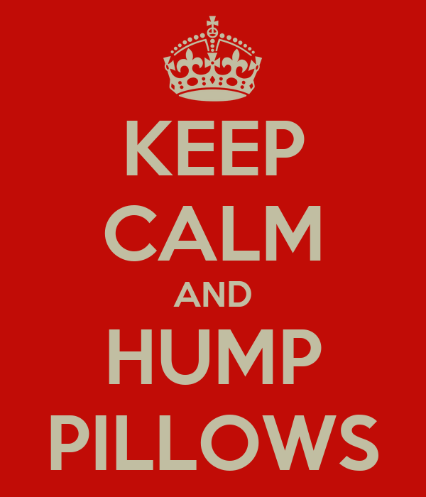 KEEP CALM AND HUMP PILLOWS