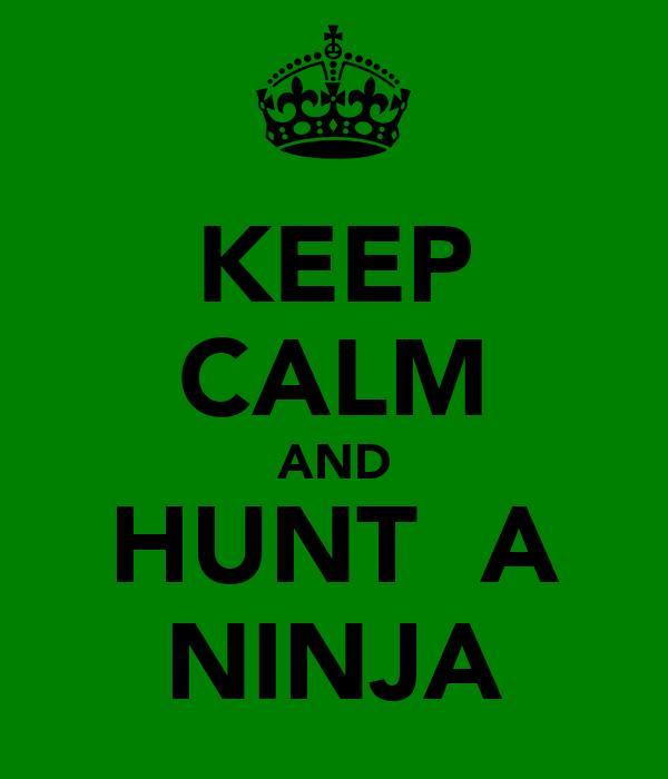 KEEP CALM AND HUNT  A NINJA