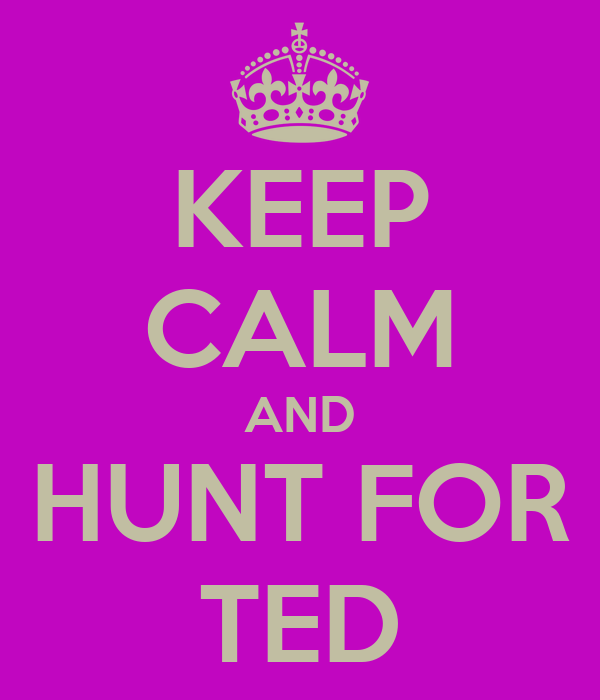 KEEP CALM AND HUNT FOR TED
