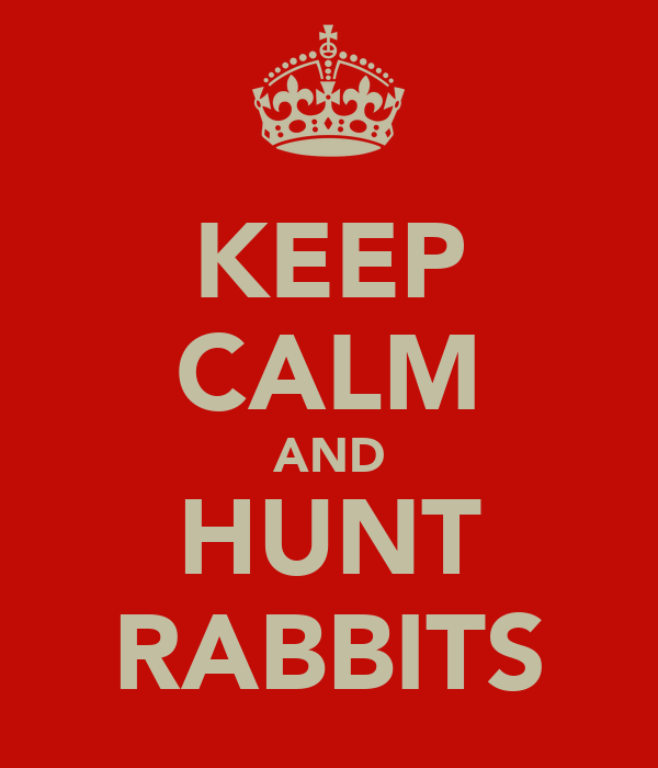 KEEP CALM AND HUNT RABBITS