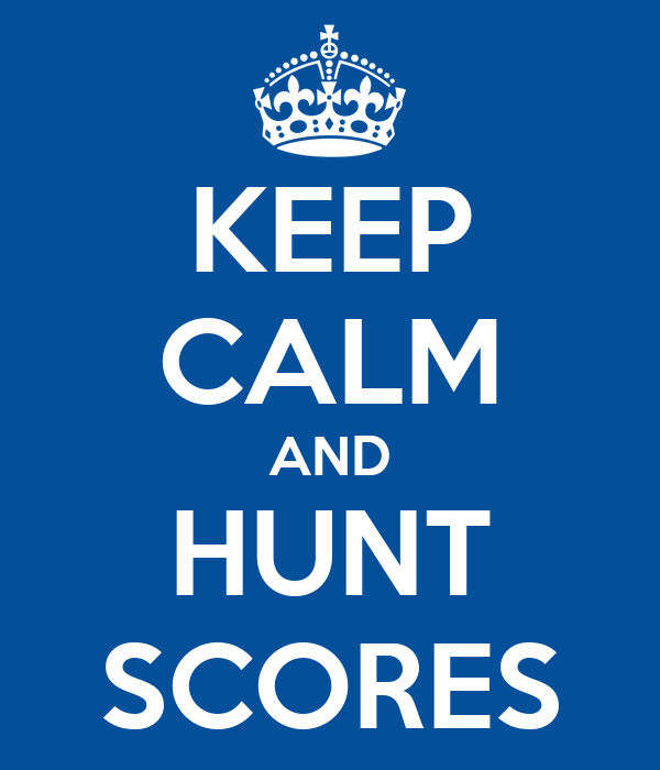 KEEP CALM AND HUNT SCORES