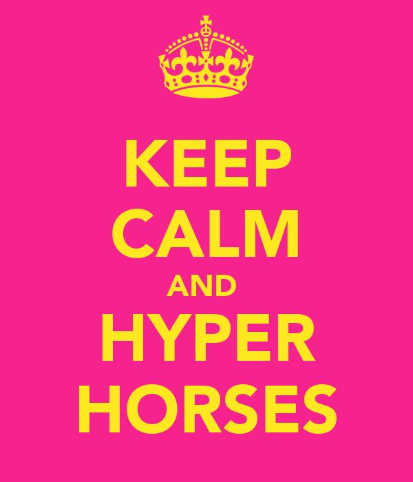 KEEP CALM AND  HYPER HORSES