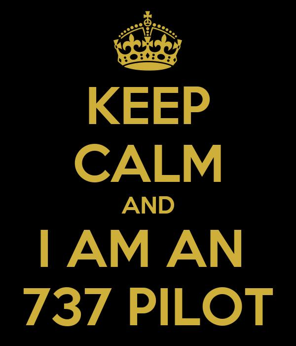 KEEP CALM AND I AM AN  737 PILOT