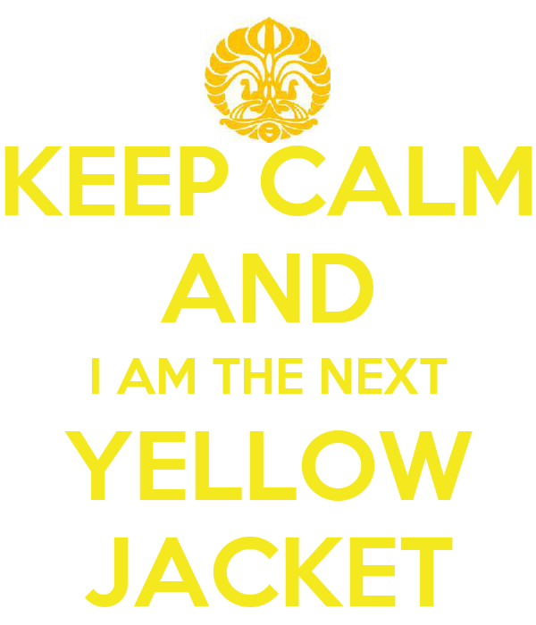 KEEP CALM AND I AM THE NEXT YELLOW JACKET