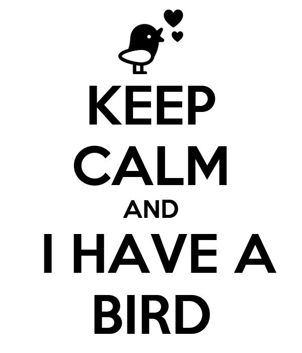 KEEP CALM AND  I HAVE A BIRD