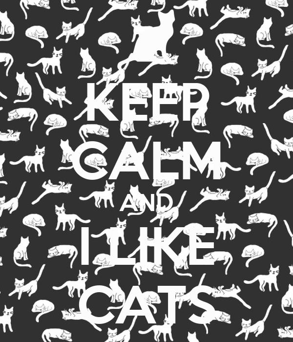 KEEP CALM AND I LIKE CATS