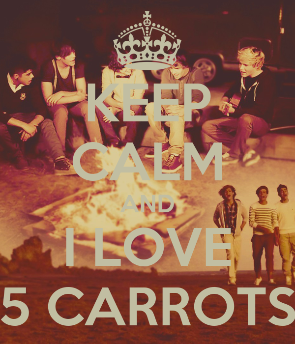 KEEP CALM AND I LOVE 5 CARROTS