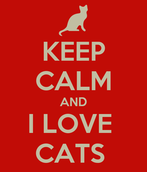KEEP CALM AND I LOVE  CATS