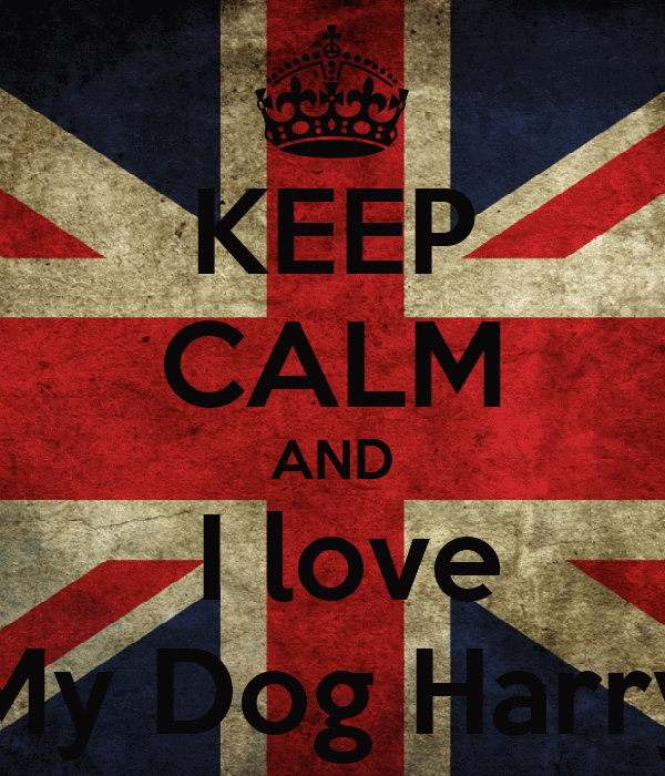 KEEP CALM AND  I love My Dog Harry