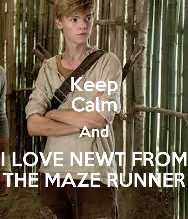 Keep Calm And I LOVE NEWT FROM THE MAZE RUNNER