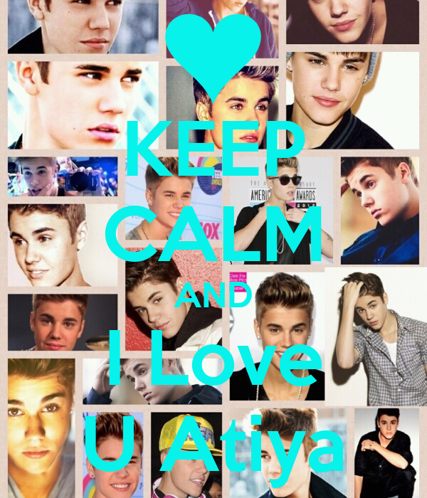 KEEP CALM AND I Love U Atiya