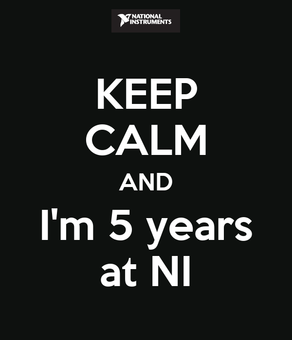 KEEP CALM AND I'm 5 years at NI