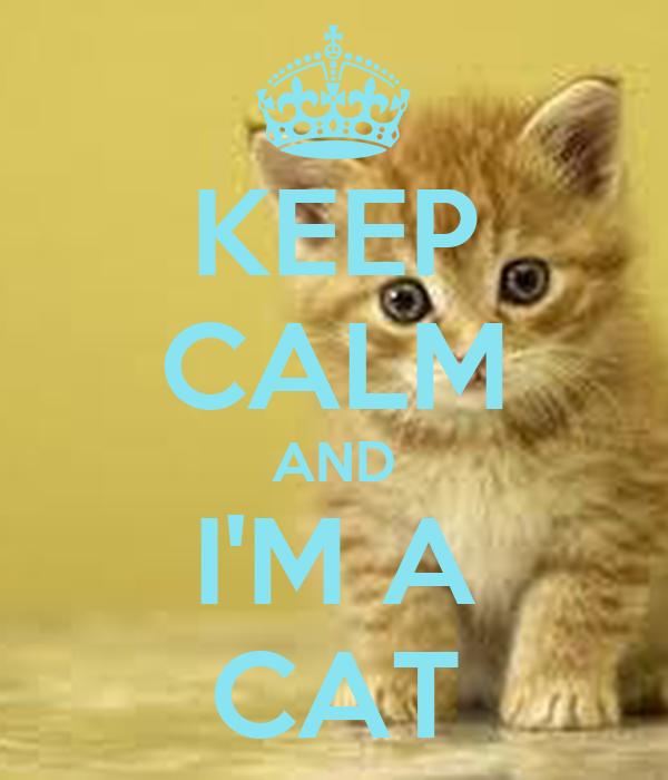 KEEP CALM AND I'M A CAT