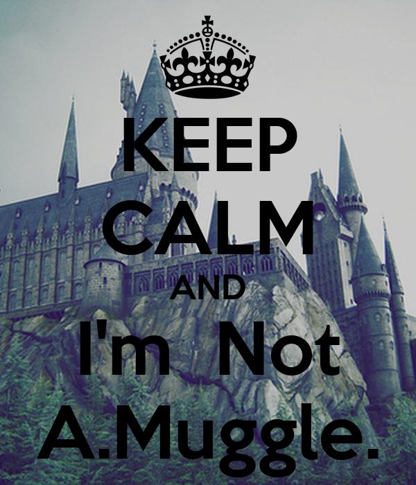 KEEP CALM AND I'm  Not A.Muggle.