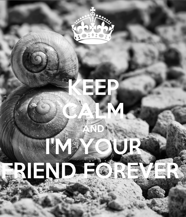KEEP CALM AND I'M YOUR FRIEND FOREVER