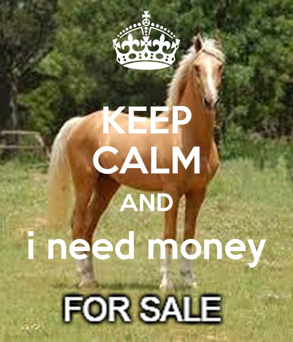 KEEP CALM AND i need money