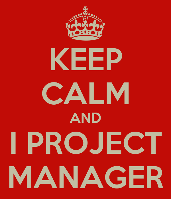 KEEP CALM AND I PROJECT MANAGER