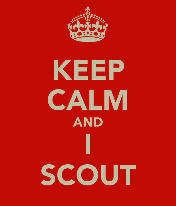 KEEP CALM AND I SCOUT