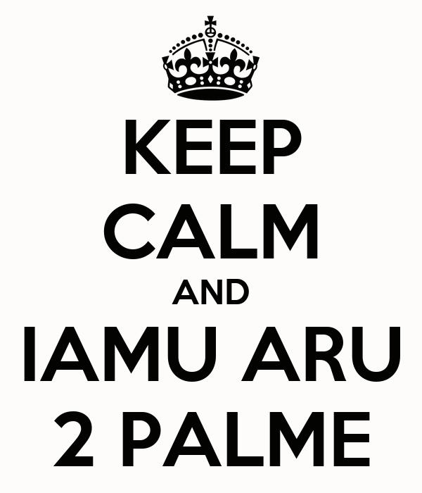 KEEP CALM AND IAMU ARU 2 PALME