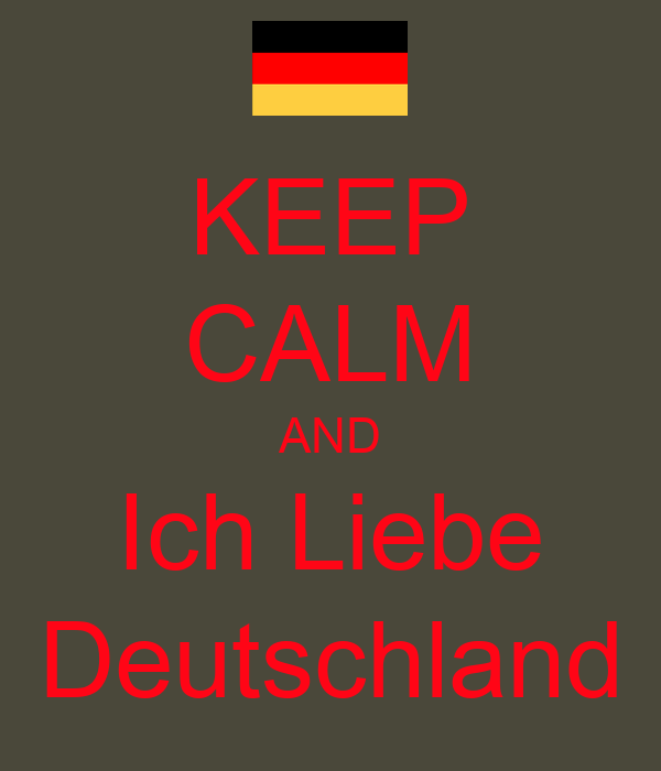 keep calm and ich liebe deutschland poster moi mooi. Black Bedroom Furniture Sets. Home Design Ideas