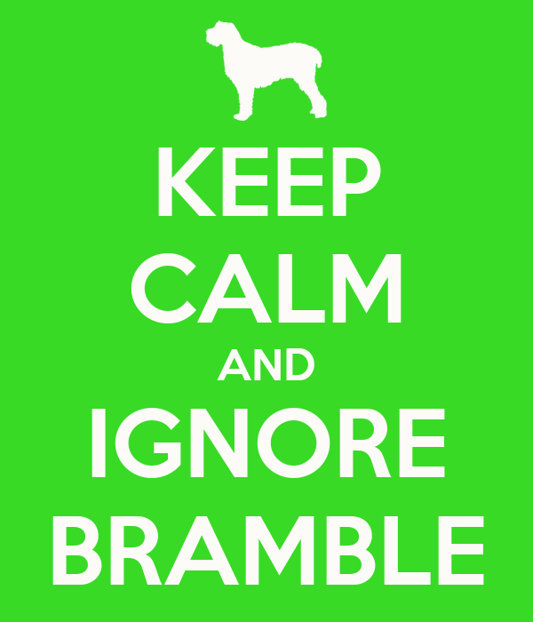 KEEP CALM AND IGNORE BRAMBLE
