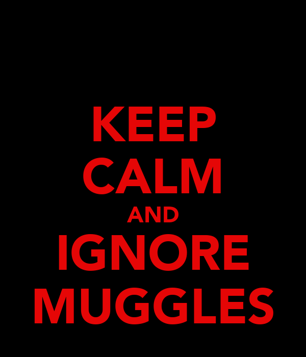KEEP CALM AND IGNORE MUGGLES