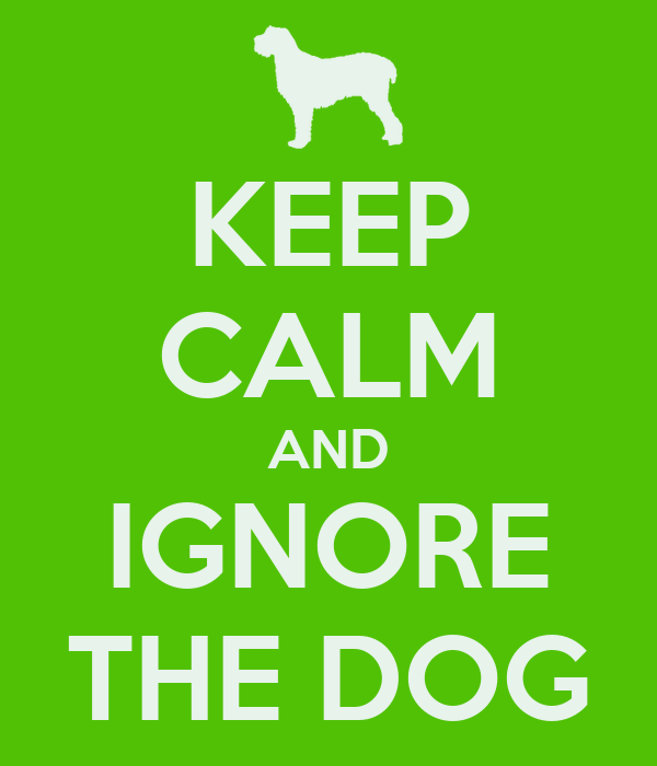 KEEP CALM AND IGNORE THE DOG