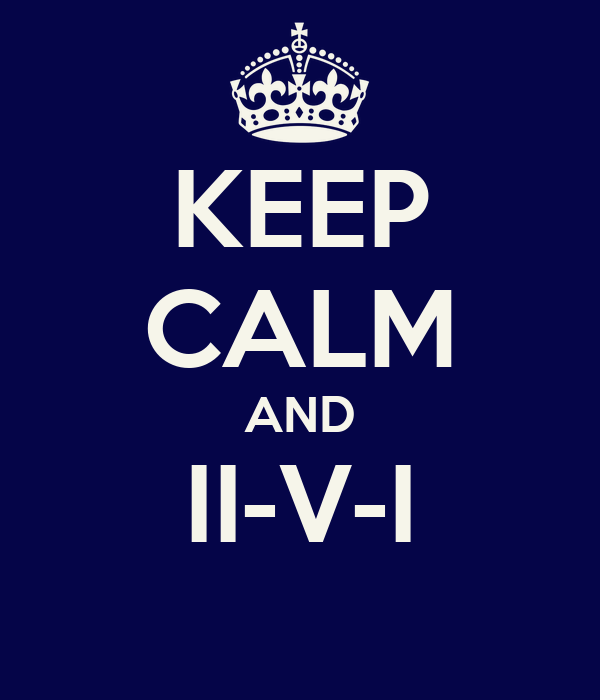 KEEP CALM AND II-V-I