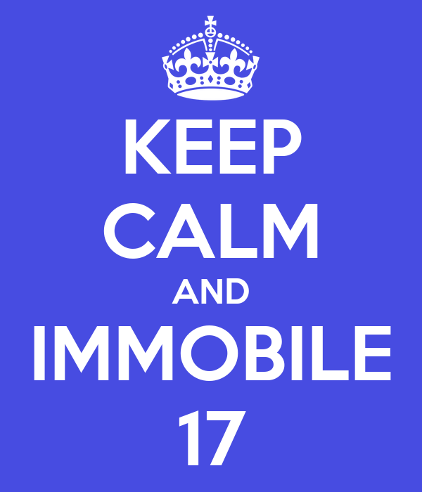 KEEP CALM AND IMMOBILE 17