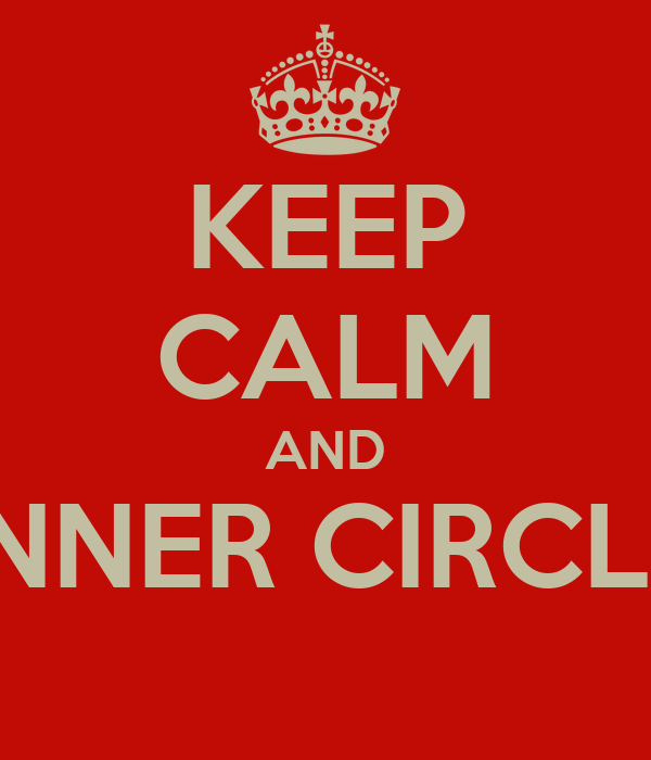 KEEP CALM AND INNER CIRCLE