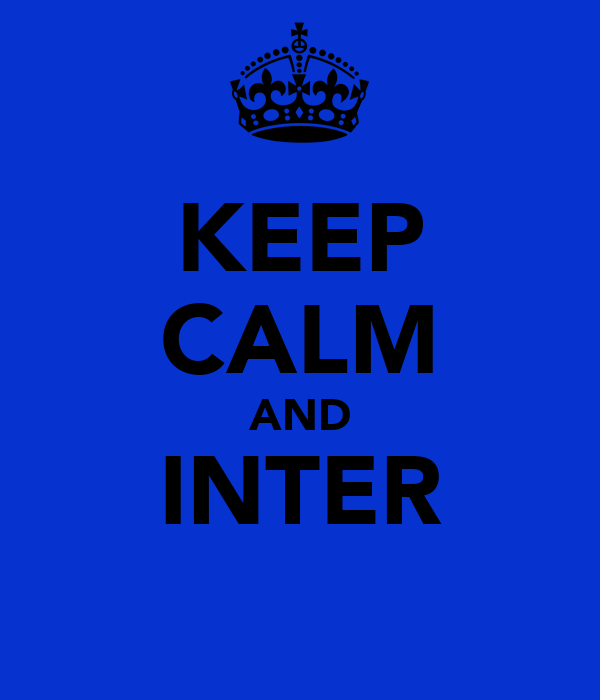 KEEP CALM AND INTER