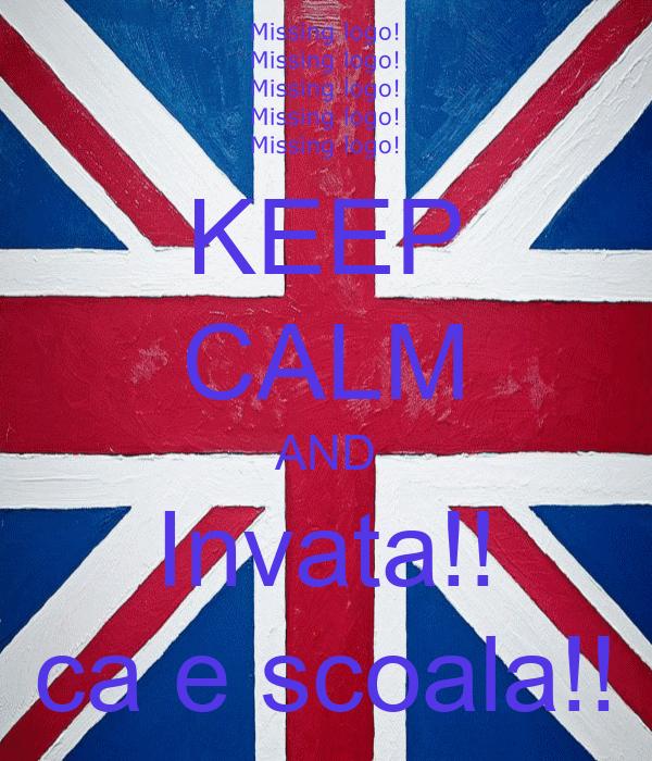 KEEP CALM AND Invata!! ca e scoala!!