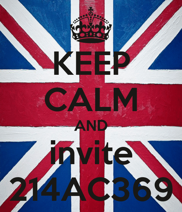 KEEP CALM AND invite 214AC369