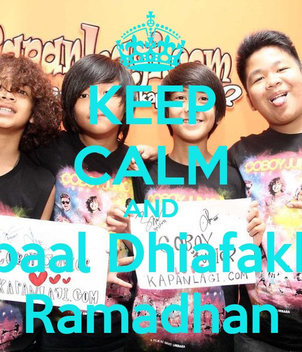 KEEP CALM AND Iqbaal Dhiafakhri Ramadhan