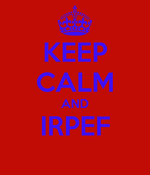KEEP CALM AND IRPEF