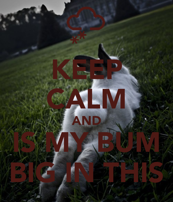 KEEP CALM AND IS MY BUM BIG IN THIS
